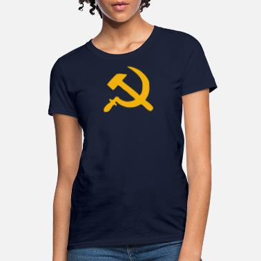 HAMMER AND SICKLE Retro Style USSR COMMUNIST - Women's T-Shirt