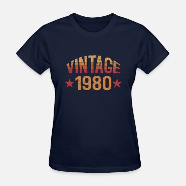 Born In 1980 Vintage 1980 - Women's T-Shirt