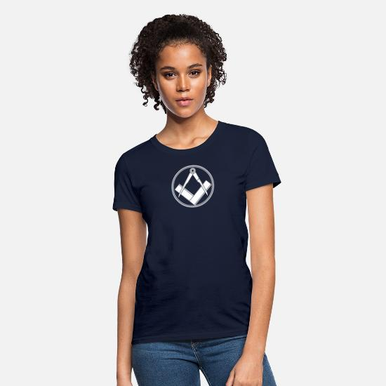 Funny T-Shirts - freemasonry - Women's T-Shirt navy