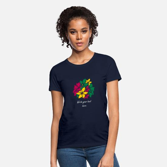 Bouquet Of Flowers T-Shirts - Bouquet of flowers - Women's T-Shirt navy