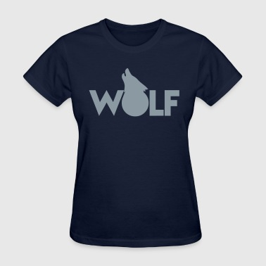 moon WOLF wolves howling design - Women's T-Shirt