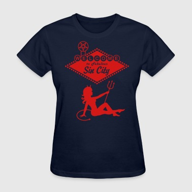 Sin City - Devil Mudflap Girl - Women's T-Shirt