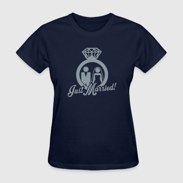 Just Married wedding couple - Women's T-Shirt