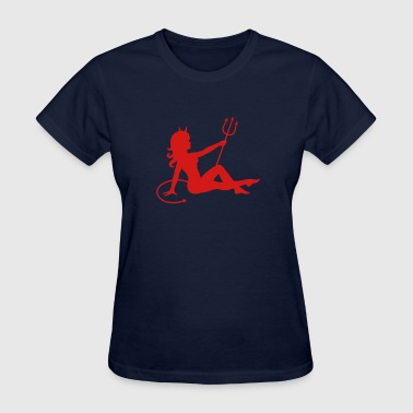 Devil Mudflap Girl - Women's T-Shirt