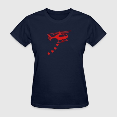 Army Helicopter Bombing Love - Women's T-Shirt