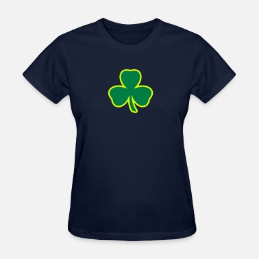 Clover Three Leaf Clover Shamrock 2 color - Women's T-Shirt