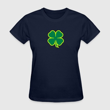 Four Leaf Clover Shamrock 2 color - Women's T-Shirt