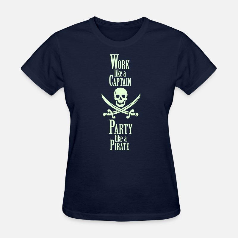 Party T-Shirts - Work like a CAPTAIN party like a PIRATE - Women's T-Shirt navy