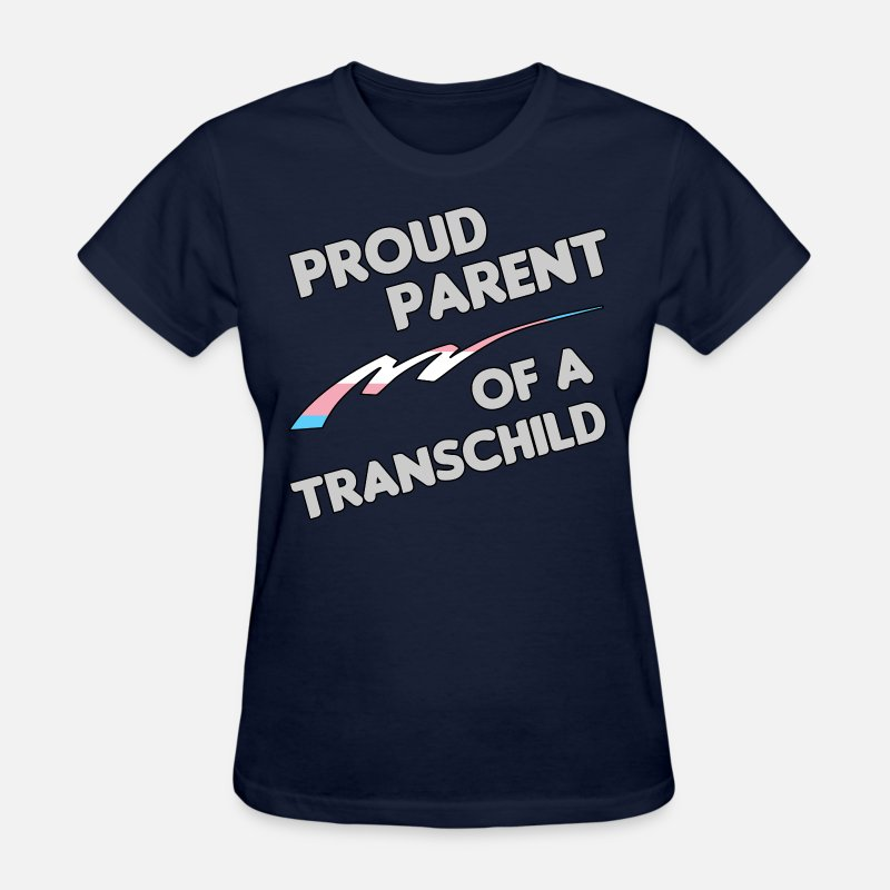 Transgender T-Shirts - Proud Trans child Parent - Women's T-Shirt navy