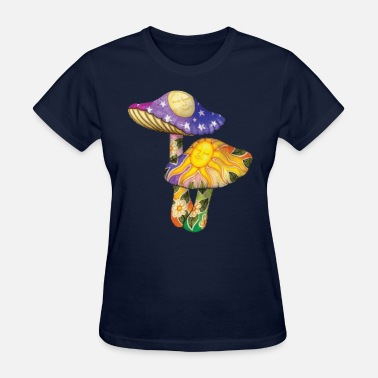Psychedelic colorful mushrooms - Women's T-Shirt