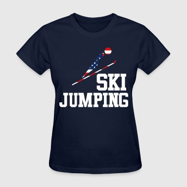 Trendy Cool Sports | USA SKI JUMP Athlete American - Women's T-Shirt