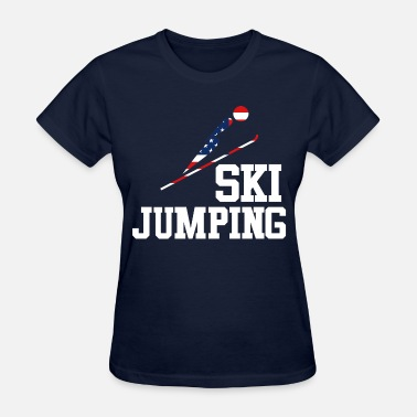 Usa Ski Team Trendy Cool Sports | USA SKI JUMP Athlete American - Women's T-Shirt