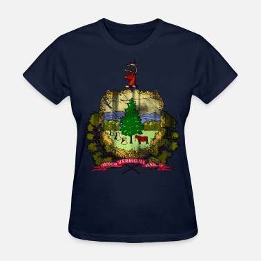 Faded Flag Vermont Flag Vintage Fade - Women's T-Shirt