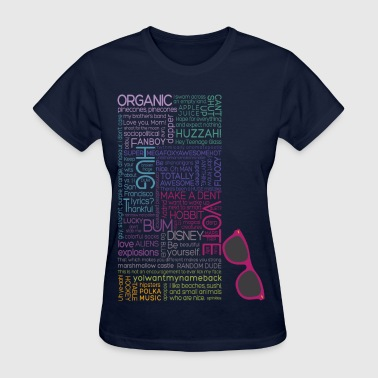 Multicolor Typography  - Women's T-Shirt
