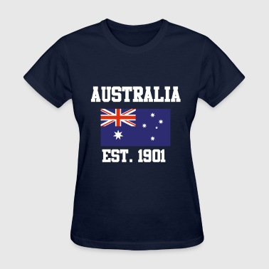 AUSTRALIA DAY Australian FLAG ESTABLISHED 1901 - Women's T-Shirt