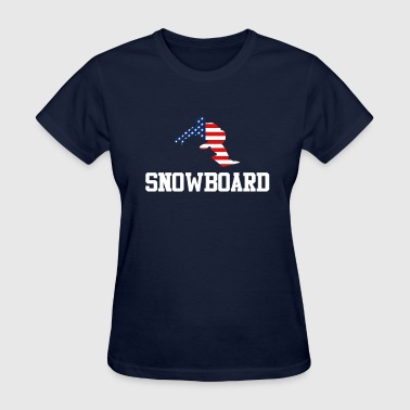 Trendy Cool Sports | USA Snowboard Athlete America - Women's T-Shirt