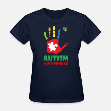 Autism Awareness Day Autism Awareness Hand Color - Women's T-Shirt