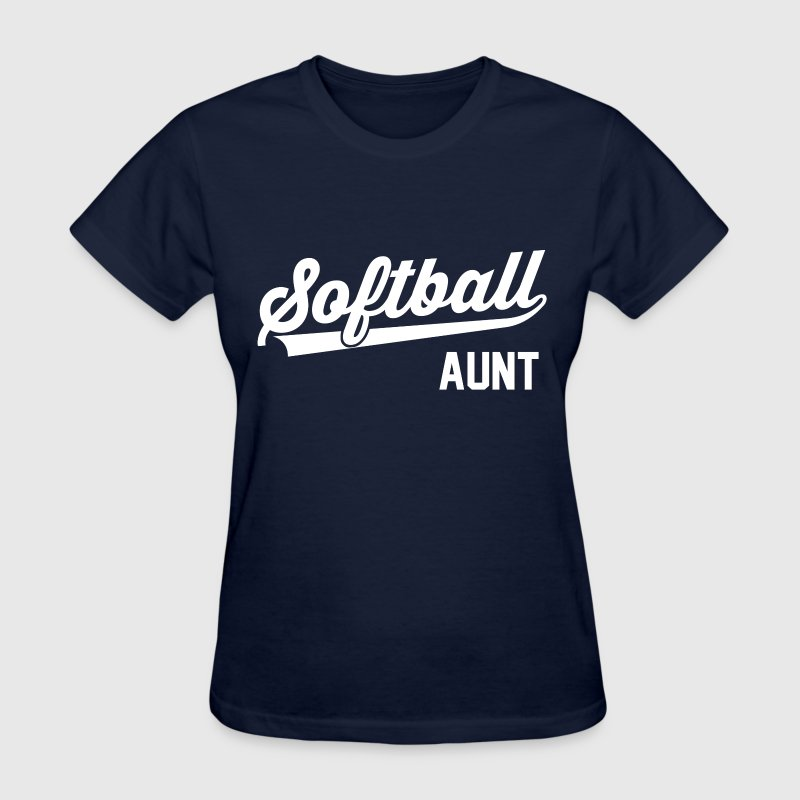 Softball Aunt - Women's T-Shirt