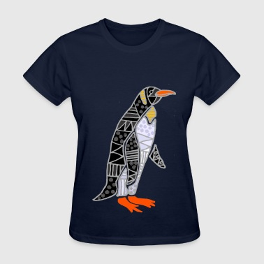 Funny Penguin Abstract - Women's T-Shirt