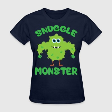 Snuggle Monster (Green) - Women's T-Shirt