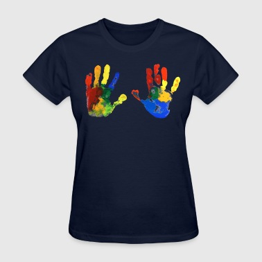 hand coloful - Women's T-Shirt