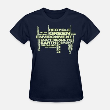 Reduce Green Word Cloud  - Women's T-Shirt