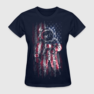 Astronaut Flag - Women's T-Shirt