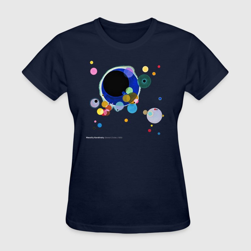 Wassily Kandinsky, Several Circles - Women's T-Shirt