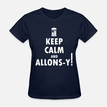 Robot Plunger Keep Calm and Allons-y! Distressed / Robot Plunger - Women's T-Shirt