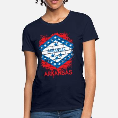 Arkansas State Flag Arkansas Graffiti Flag - Women's T-Shirt