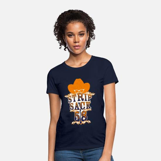 Football T-Shirts - StripSack58 - Women's T-Shirt navy