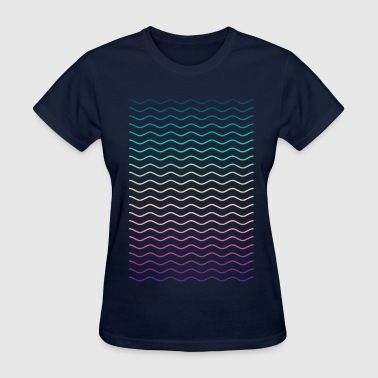 Motif Swag Minimal Geometry Hipster Lines (colorful/rainbow) - Women's T-Shirt