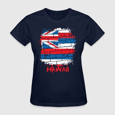 State Of Hawaii Flag Graffiti Hawaii State Flag - Women's T-Shirt