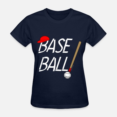 Fan Made Baseball Exclamation White - Women's T-Shirt