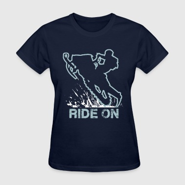 Snowmobile Ride On Sled - Women's T-Shirt