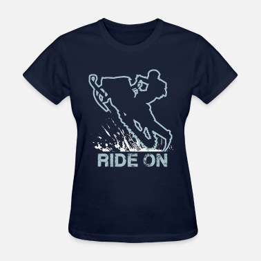 Riding Snowmobile Snowmobile Ride On Sled - Women's T-Shirt
