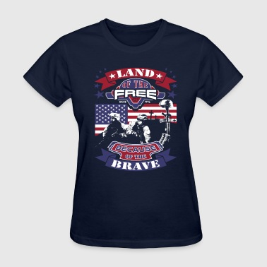 4th Of July - Land Of The Free Clean - Women's T-Shirt