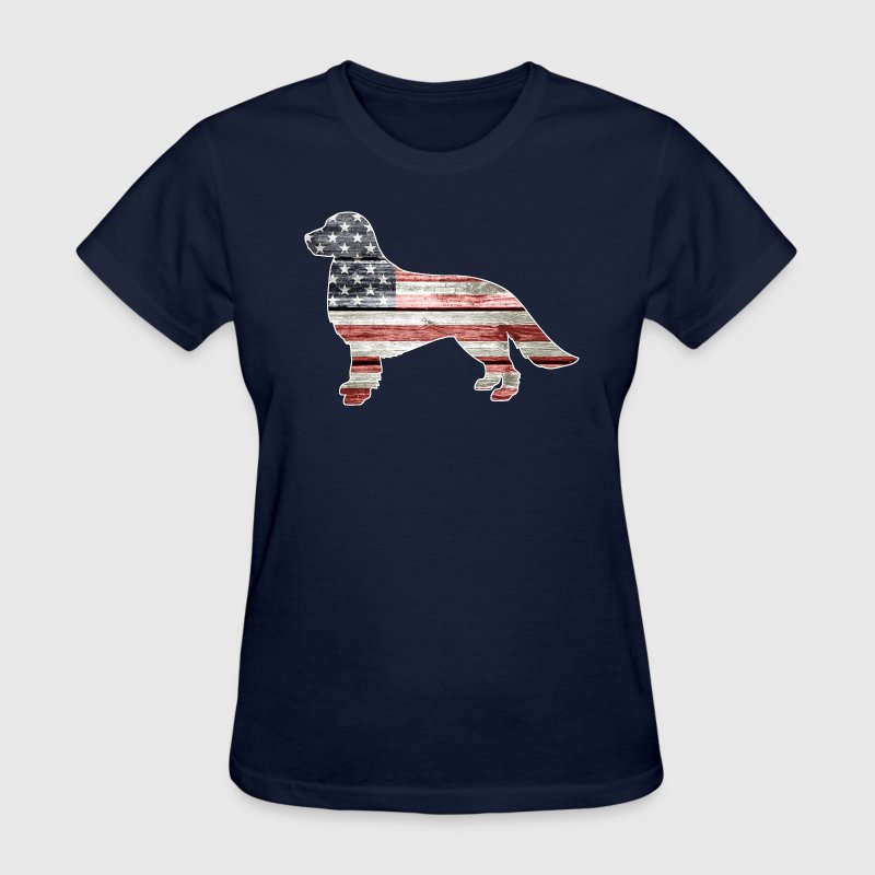 Patriotic Golden Retrieve - Women's T-Shirt