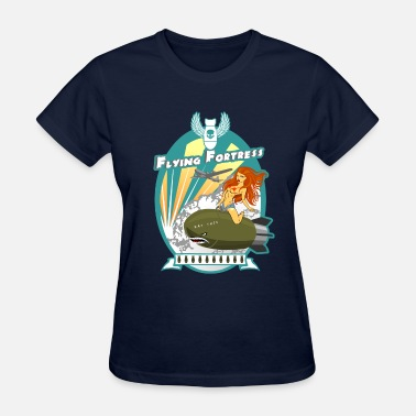 Girl Riding Bomb Flying Fortress - Women's T-Shirt