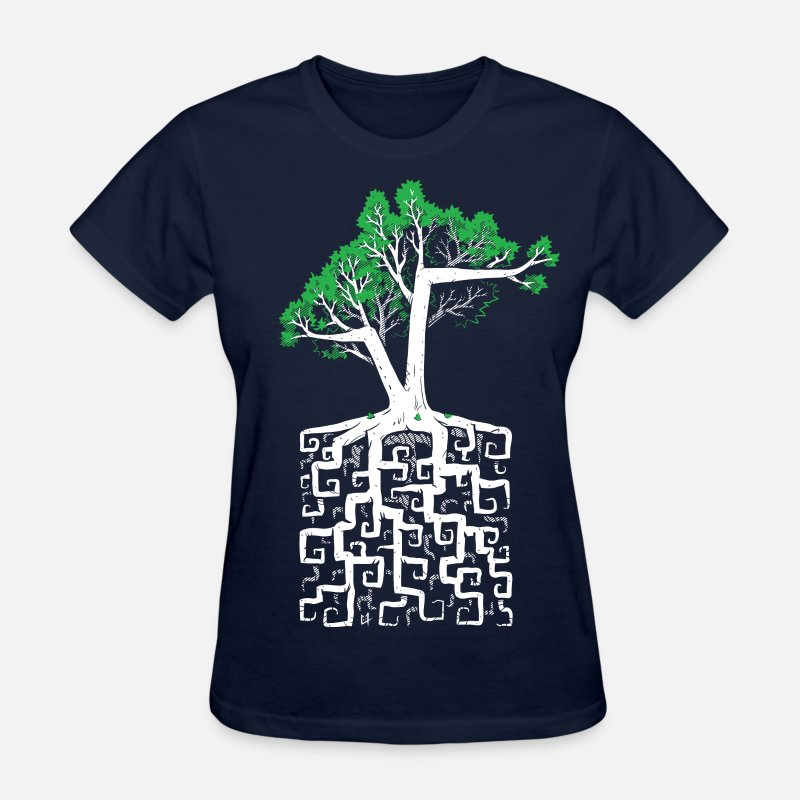 Root T-Shirts - Square Root - Women's T-Shirt navy