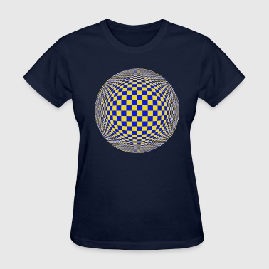 Blue yellow Circle - Women's T-Shirt