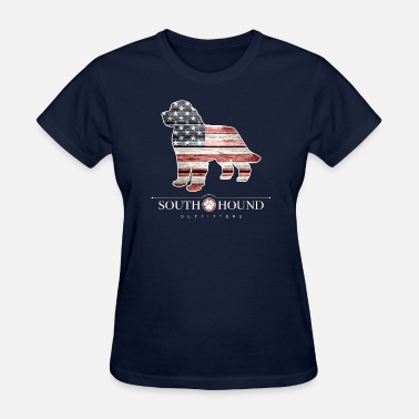 Puppy Patriotic Newfoundland - Women's T-Shirt