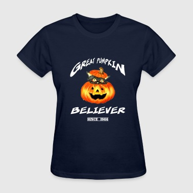 Snoopy Pumpkin Peanuts-Great Pumpkin believer halloween - Women's T-Shirt