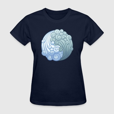 Elemental Air - Yin Yang - Spiritual - Wind - Women's T-Shirt