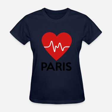 I Heart Paris Heart Paris - Women's T-Shirt
