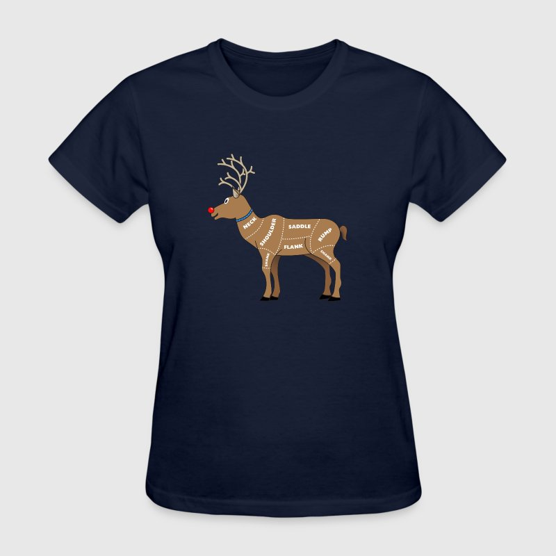 Reindeer Meat For Christmas - Women's T-Shirt