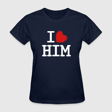 i heart him - Women's T-Shirt