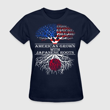 American Grown With Japanese Roots - Women's T-Shirt