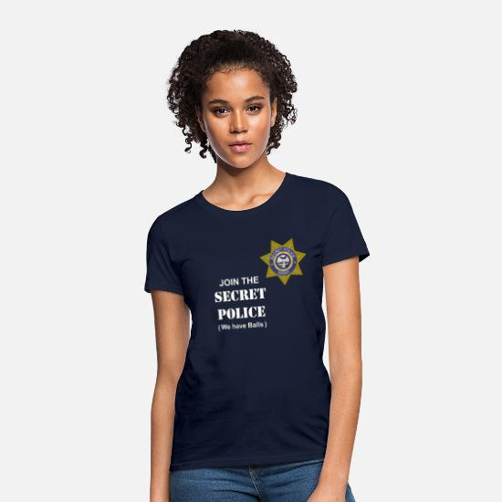 Police T-Shirts - Secret Police Balls - Women's T-Shirt navy