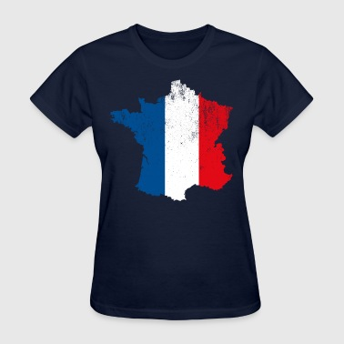 French Map Flag - Women's T-Shirt